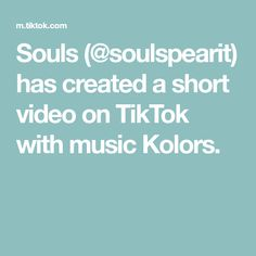 Souls (@soulspearit) has created a short video on TikTok with music Kolors. The Creator, Create, Tik Tok, Savage, Craft, Musica