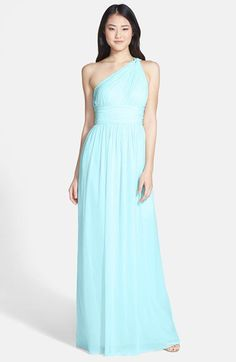 Donna Morgan 'Rachel' Ruched One-Shoulder Chiffon Gown (Regular & Plus) | Nordstrom