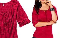 Damen Longshirt  Tunika rot  Neu Gr.44/46