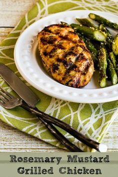 Rosemary Mustard Grilled Chicken, with step-by-step instructions on how to grill perfect, juicy chicken breasts. You can also use this marinade on zucchini. Omit the optional Spike seasoning (sub your own phase-appropriate seasoning blend).