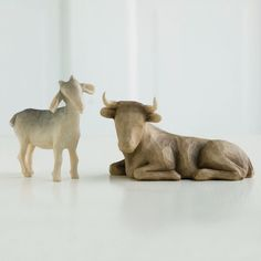 """Free Shipping Willow Tree """"Ox and Goat"""" for the Nativity By Susan Lordi   eBay"""