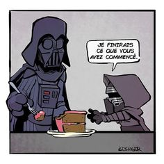 """By Brian Kesinger Star Wars Calvin and Hobbes """"I will finish what you started"""" Darth Vader and Little Kylo Ren Star Wars Rebels, Star Wars Meme, Star Wars Comics, Simbolos Star Wars, Amour Star Wars, War Comics, Star Wars Film, Marvel Comics, Calvin Und Hobbes"""