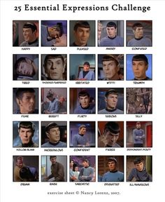 """Spock is sarcastic all the time. There doesn't need to be one for that. And I love that """"silly"""" is him upside down in a tree."""