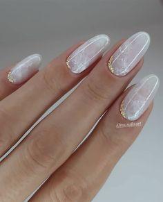 Neutral Nail Designs, Neutral Nails, Beautiful Nail Designs, Nail Art Designs, Marble Nail Designs, Stylish Nails, Trendy Nails, Milky Nails, Gel Nagel Design
