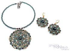 beading earrings, orecchini perline - by #machegioia® - #Crystal-mandala.com