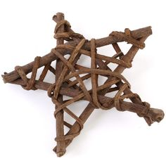 Wooden Nature pentagram wall plaque. Pagan / Wicca.