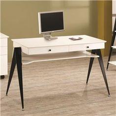 "Lori Contemporary Two Drawer Computer Desk 23.5""d 31""h 47.5""w"