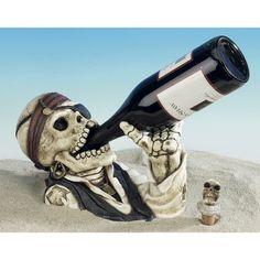Pirate Skull Wine Bottle Holder