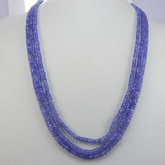 """Loose Strand Tanzanite Zircon 3 mm Gemstone Rondelle Faceted Beads 12 To 42/"""""""