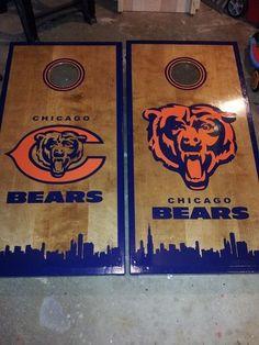 Chicago Bears Cornhole Boards