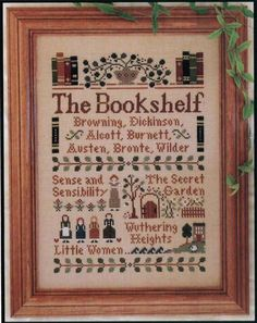 The Bookshelf - cross stitch pattern by Little House Needleworks. $5.50, via Etsy. (and sold out!)