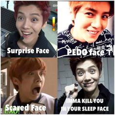 Luhan's different faces