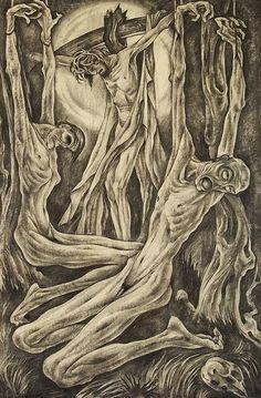 igor rutter weimar art | Albert Birkle, Crucifixion, 1921