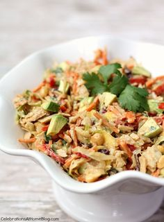 CHICKEN-SLAW SALAD WITH PEANUT DRESSING — Celebrations at Home