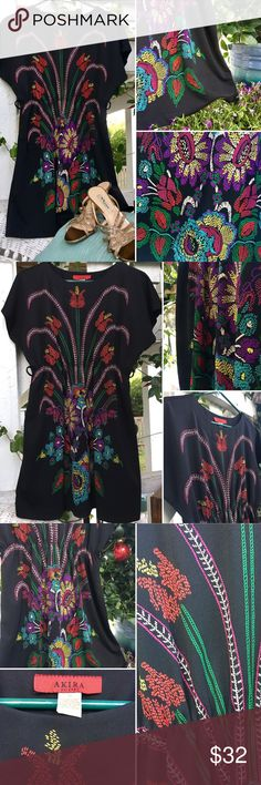 🌺EUC🌺Stunning Akira Chicago Peacock Dress Gorgeous black skater dress adorned with rich, beautiful colors & patterns. Ultra flattering design & fit. In excellent condition - no flaws! AKIRA Dresses