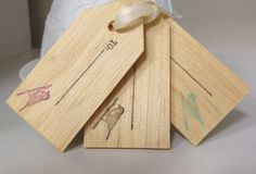 Wooden gift/favour tags by AnnaKenzie on Etsy, $1.00