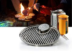 BioLite - Portable Grill    The BioLite Portable Grill provides a safe, seamless, and fun way to cook your favorite foods on the wood-burning BioLite CampStove. The unique design allows you to keep sizzling while your fire keeps burning, all without the need for charcoal or propane.    $59.95
