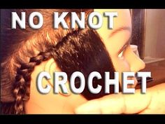 DoYouJuu | Knotless Crochet braids With Versatile Parting - YouTube