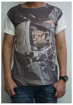 Astronaut Pilot Space Rocket men t-shirt cream vest tank top | sabinashop | ASOS Marketplace