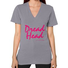 Dread Head V-Neck (on woman)