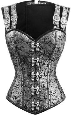 The Violet Vixen - Double-Barreled Tinker Silver Swan Corset, $144.00 (http://thevioletvixen.com/authentic-corsets/double-barreled-tinker-silver-swan-corset/)