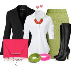 Knee High Boots/Skirt, created by ccroquer on Polyvore
