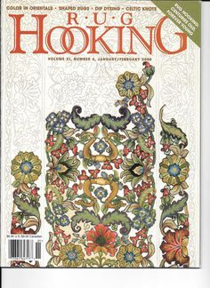 Rug Hooking Magazines Five From 2000 Lot By Gardengatedesign