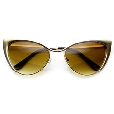 Womens Fashion High Tip Pointed Cat Eye Sunglasses - zeroUV