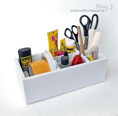 DIY desktop organizer with simple video tutorial