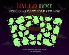 Halloween Baskets, Halloween Cups, Halloween Boo, Halloween Themes, Starbucks Cup Design, Starbucks Logo, Cricut Explore Projects, Vinyl Projects, Starbucks Halloween