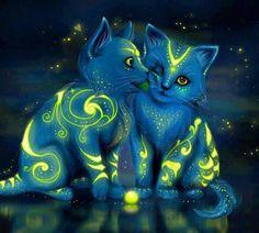 Art fantastique.. ! .. comme celui du Fractal! Les chats..