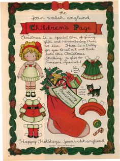 Joan Walsh Anglund Christmas paper doll