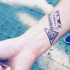 Vintage Passport Stamp travel collection tattoo by InknArt Trendy Tattoos, Tattoos For Guys, Cool Tattoos, Wrist Tattoos, Sleeve Tattoos, Tatoos, Mundo Tattoo, Nyc Tattoo, Drum Tattoo