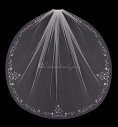 Fingertip Wedding Veil with Marquise Jewel Flowers