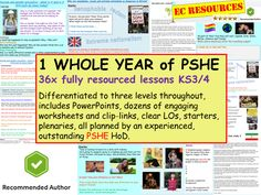 hours) of PSHE planning for / 1 whole year of highly-rated and popular PSHE (PSE) and SRE / RSE resources. Tes Resources, School Resources, Teaching Resources, Pshe Lessons, British Values, Classroom Routines, Character Education, Life Skills, Classroom Management