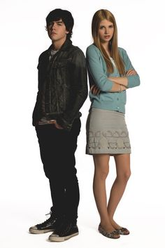 Munro Chambers as (Eli) and Sarah Fisher as (Becky) #DegrassiSeason12