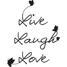 Muurstickers teksten - Muursticker Live Laugh Love