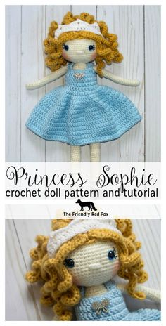 crochet amigurumi dolls Free Crochet Doll Pattern- The Friendly Sophie - The Friendly Red Fox - I am so excited to be offering this as a free crochet doll pattern! It has been one of my very favorite Friendly Dolls to Crochet Dolls Free Patterns, Crochet Doll Pattern, Amigurumi Patterns, Crochet Gratis, Crochet Baby, Crochet Beanie, Crochet Princess, Easy Crochet Projects, Crochet Doll Clothes