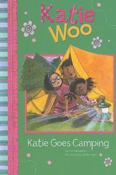 Katie goes Camping by Fran Manushkin: Katie had a wonderful time camping with her friends Pedro and JoJo, but when it gets dark the shadows make ordinary things seem frightening. Camping Books, Go Camping, 1st Grade Books, Library Services, Sleeping Under The Stars, Library Card, Book Recommendations, Lyon, Book Format
