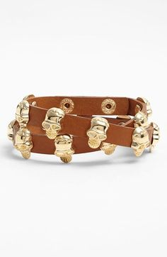 Natasha Couture 'Skull' Double Wrap Bracelet | Nordstrom Anniversary Sale