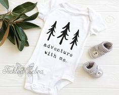 Adventure With Me Baby Bodysuit, Toddler, Youth, Adult Shirt, Grow, Hiking, Explore, Outdoors, Camping, Beach, Nature, TickledZebra, Live Baby Shirts, Kids Shirts, Onesies, Baby Boy Outfits, Kids Outfits, Baby Life Hacks, Hiking Shirts, Baby Design, Baby Fever
