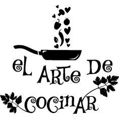 Vinilos decorativos para la cocina - Vinilo decorativo citación cocina El arte de cocinar - ambiance-sticker.com