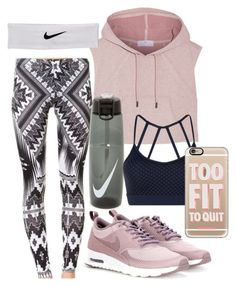 """""""Workout"""" by forever-inspired ❤ liked on Polyvore featuring adidas, NIKE, Lorna Jane and Casetify"""