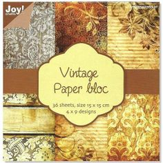 "Joy!Crafts Scrapbook Papier ""Vintage 2"""