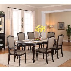 Foley Oval Dining Room Table Set By Crown Mark