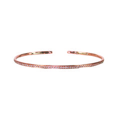 Plukka Tango 18-karat rose gold diamond bangle, $1,350 plukka.com