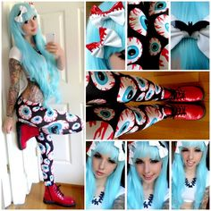 Alexa Poletti; love the bows, tights, and boots :3