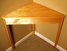 Small corner tables amish mission corner table with drawer maple corner table with cherry inlay watchthetrailerfo