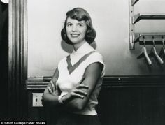 Young writer: Sylvia at Smith College Massachusetts in 1952/1953, before she left for Britain