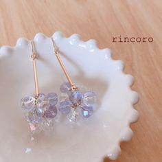 【送料無料】キラキラ輝く葡萄のピアス/イヤリング